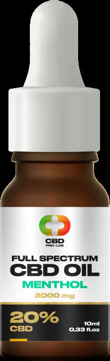CBD-Öl Vollspektrum mit Menthol 20% (2000mg) 10ml