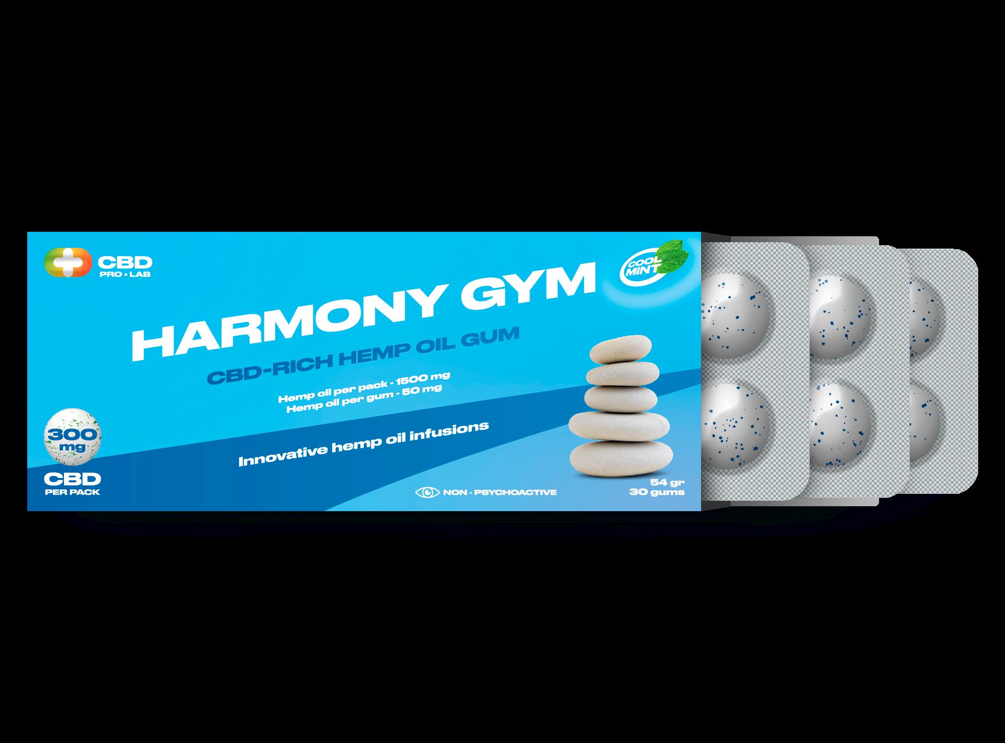 Harmony Gum CBD-reichhaltiger Hanfölkaugummi 30 Kaugummis